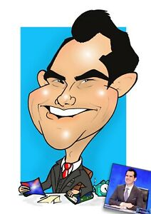 Digital Caricature EXCELLENT LIKENESS!Hand-drawn from photo/wedding stationery