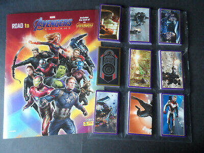 PANINI MARVEL AVENGERS ENDGAME 50 CARD SET /& COLLECTORS  BOX