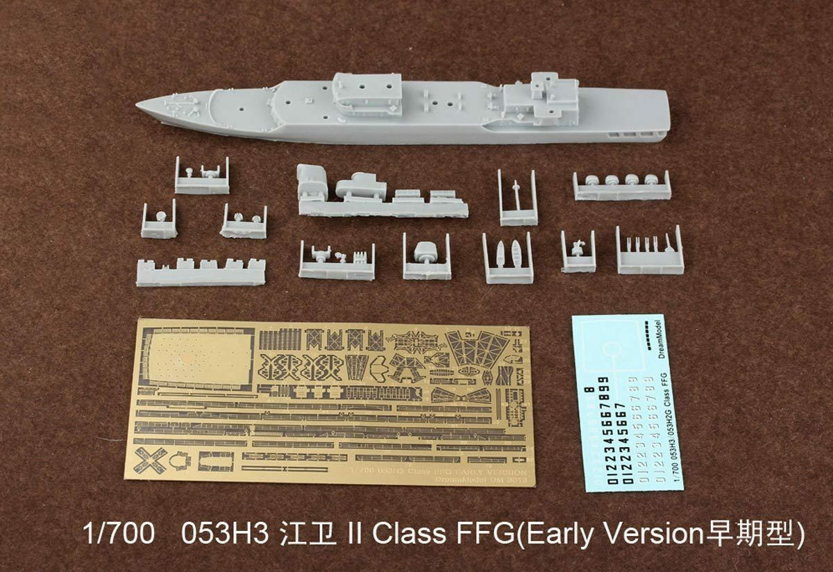 1 700 053H3 Class FFG Early vison missile frigate Resin PE Decal For Model Kit