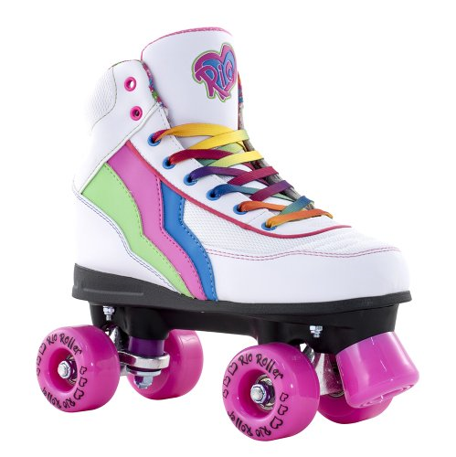 Rio Rio Rio Roller Child Quad Skates-Candi UK 4/EU 37 Weiß 437b15