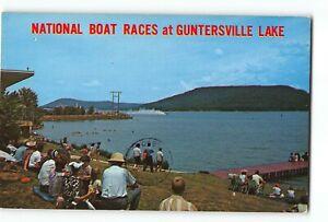 Guntersville-Alabama-AL-Vintage-Postcard-National-Boat-Races
