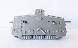 WW1 1/72 Scale A7V High Quality 3D Printed Tank