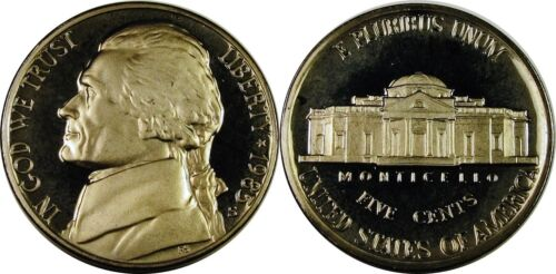 1985-S Proof Jefferson Nickel Full Steps Nice Coins Priced Right Shipped FREE