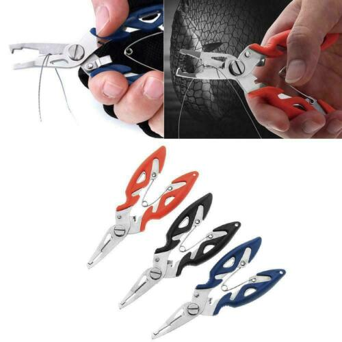 2019 Stainless Steel Fishing Pliers Scissors Line Cutter Tackle Tool Hook