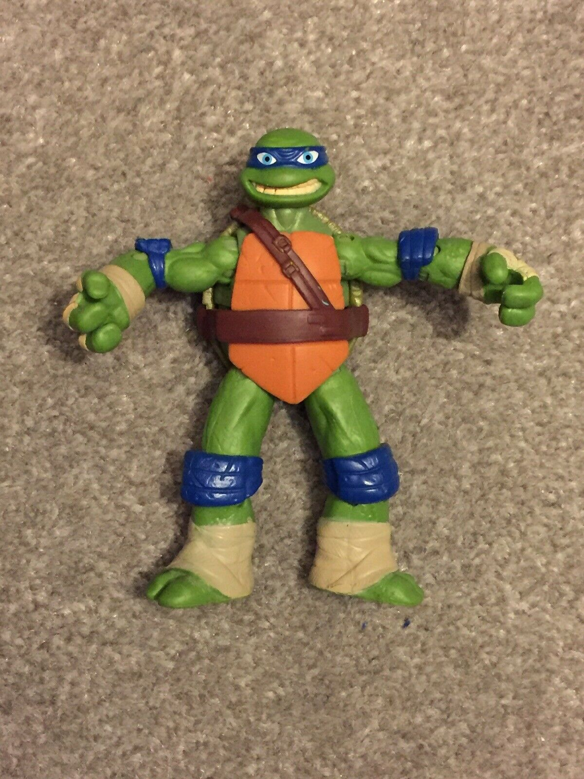 Very Rare Leonardo Turtle Figure 2012 With With With Manufacture Fault Blau Elbow Knee Pad 80df79