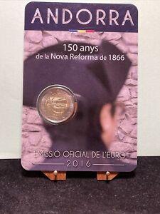 ANDORRA : 2016  2 EURO COINCARD 150° ANNIVERSARIO DELLA NUOVA RIFORMA DEL 1866