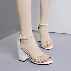 Quadrato Tacco 8 Bianco Sandali Eleganti Cm Comodi Donna Oro D9IEWH2