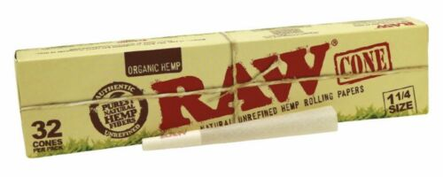 32 packs raw cone loader raw organic pre rolled cone 1 1//4 size