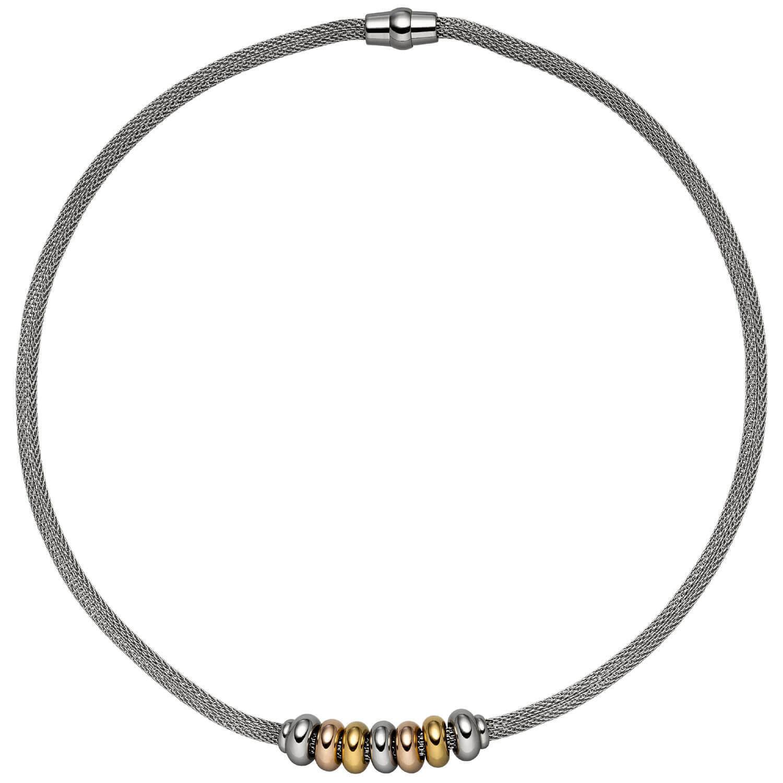 4,1mm Collar Cadena de Media con Colgante Acero Inoxidable yellow red