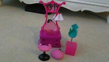 Barbie Peluquería/hairdreesser Accesorios Bundle Silla Taburete de Ducha Fregadero
