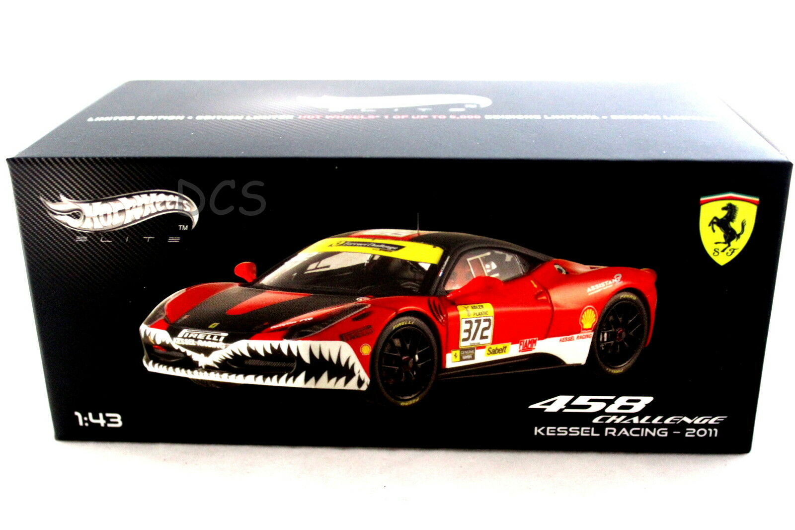 Ferrari 458 Défi Kessel Course 2011 Hot Wheels Elite 1 43 Voiture Miniature