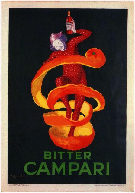Bitter Bonomelli 1922 Italian Herbal Liqueur Vintage Poster Print Decor Wall Art