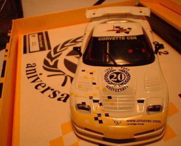 QQ E123 Fly Chevrolet Corvette C5R Cric Crac 20 Anniversario Numerati 222