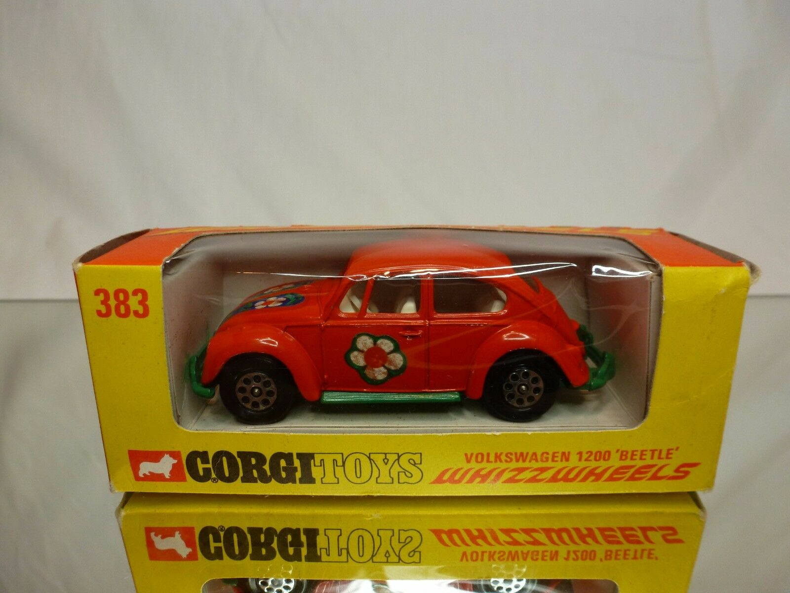 CORGI TOYS 383 VW VOLKSWAGEN 1200 BEETLE - naranja 1 43 RARE - EXCELLENT IN BOX