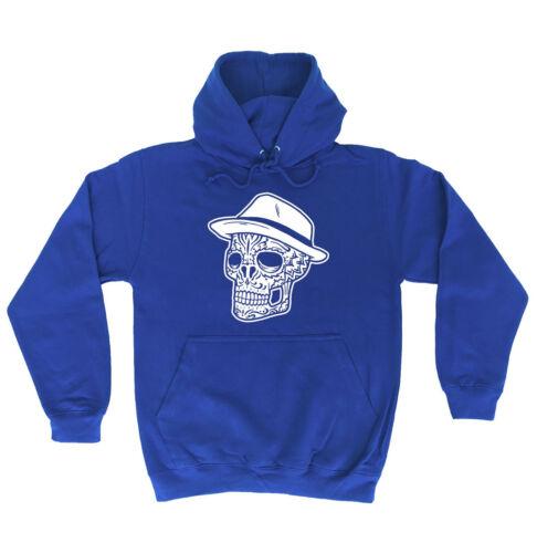 Fedora Skull HOODIE hoody Skeleton Cool Tattoo Top Present birthday fashion gift