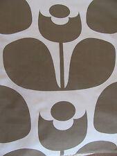 Orla Kiely wallflower mushroom FQ 50cm square fabric lightweight CENTRAL STEM