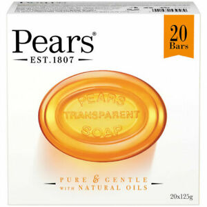 Pears Pure and Gentle 125g Transparent Soap with Natural Oils, Box of 20 Units