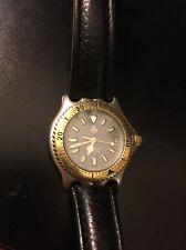Vintage Tag Heuer 2000 Professional Black Dial Quartz Watch 2 Tone