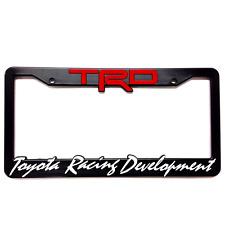 TRD License Plate Frame Tundra Tacoma 4Runner FJ Corolla FRS CAMRY SIENNA CELICA