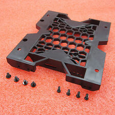 """Hot 5.25/"""" to 3.5/"""" 2.5/"""" SSD Hard Drive Adapter TRAY with Screws can mount Fan BR"""