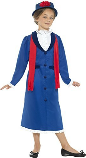 Victorian Nanny Costume, Blue, with Dress, Hat & Scarf -  (US IMPORT) COST-W NEW