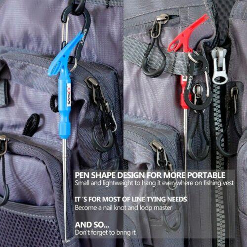Knotenwerkzeug Angelknoten Tool Hakenlöser Schlaufenknoten Fliegenfischer