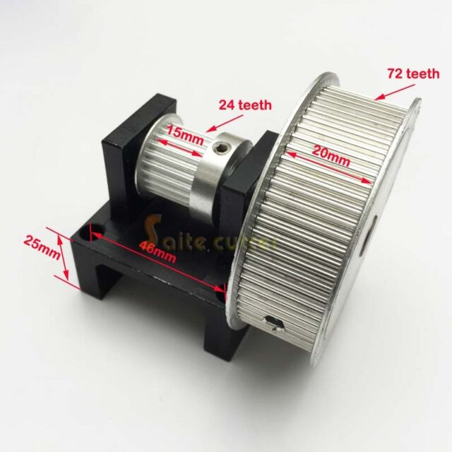 Timing Belt Pulley Step Motor Gear 72 tooth : 24 teeth CO2 Laser Cutter Engraver
