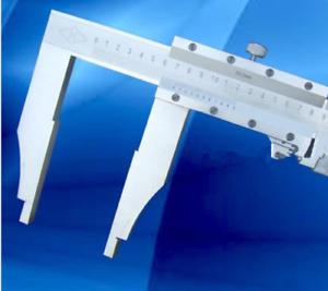 0-1000mm Vernier Caliper stainless fine adjustment 5/'/' jaw depth bi