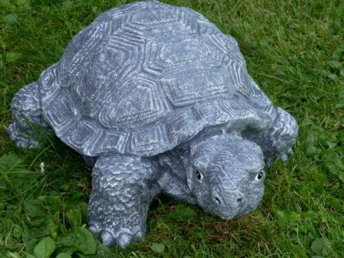 Steinfigur Tierfigur Schildkröte groß anthrazit