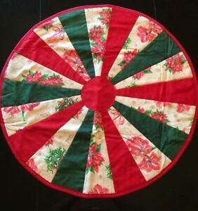 Quilted Round Table Toppers.Details About Joyeux Noel Holiday Design Handcrafted 23 Round Handmade Quilted Table Topper