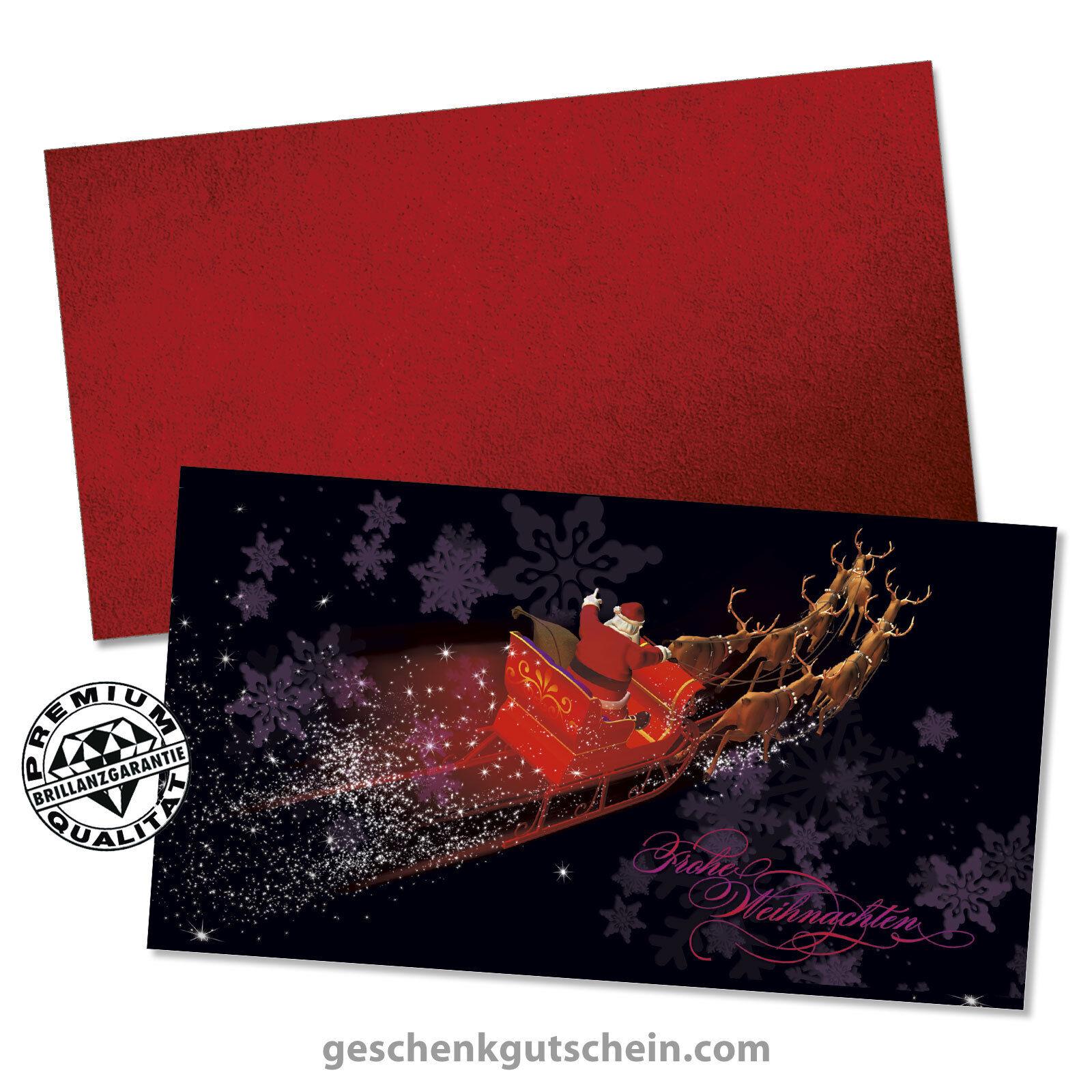 Weihnachts-Geschenkgutscheine mit KuGrüns für alle Branchen X1311  | Roman  | Feine Verarbeitung