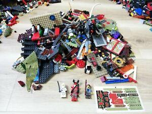 LEGO-NINJAGO-1KG-850PC-039-S-CREATIVITY-PACKS-BULK-3-FIGS-STICKERS-amp-FREE-TOOL