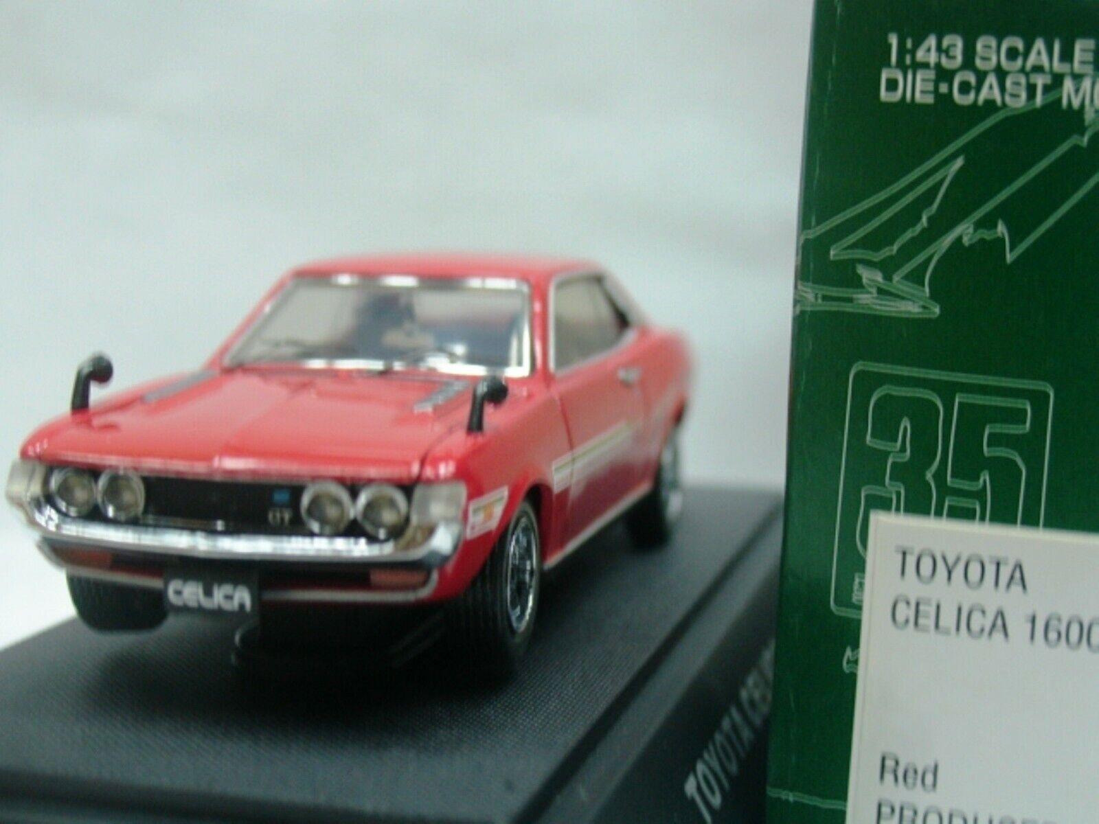 Wow extrêmement rare Toyota 1972 CELICA 1600 GT TA22 RHD rouge 1 43 Ebbro-sdim
