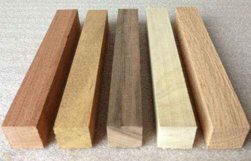 5 x Chunky Planed Pen Turning Blanks Mixed Species Woodturning 150x20x20mm