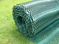 GR Grass Reinforcement 1m x 10m  x 11mm thick roll Green PLUS 25 U PINS