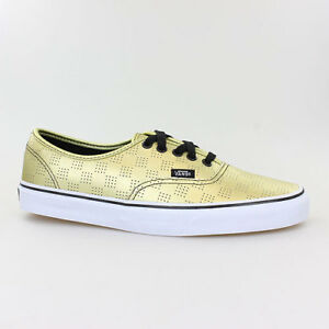 Details zu VANS SCHUHE AUTHENTIC GOLD CHECKER LEDER V4MLJ9D