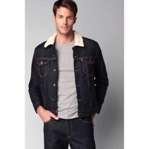 Levis-Jacket-Sherpa-Button-Up-Denim-Jeans-Trucker-Dark-Blue-0027