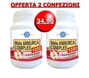2 confezioni MELA ANNURCA COMPLEX 1000 integratore COLESTEROLO + CAPELLI  Italia