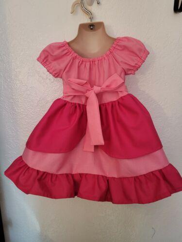 Details about  /#49 Handmade Mario Bro Princess Peach dress up// costume 6mo-6Y Birthday?