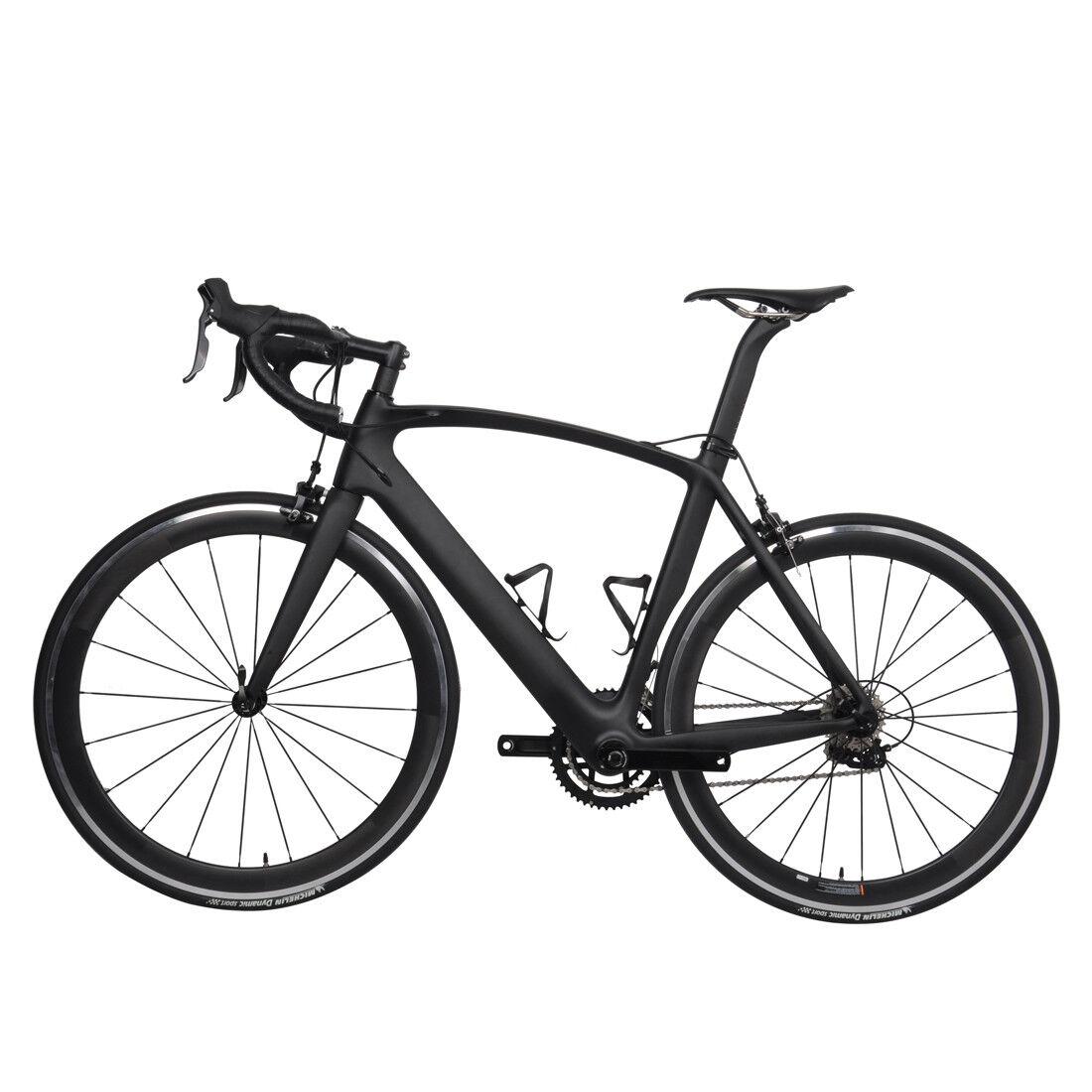 61cm AERO Carbon Bicycle Frame Road Shimano 700C Wheel Clincher seatpost V brake