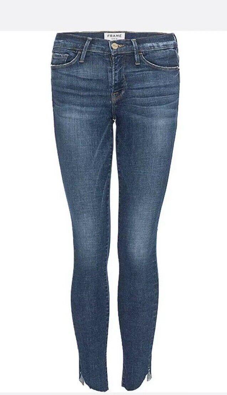 Frame Denim Le Skinny de Jeanne Raw Hem Crop Jeans