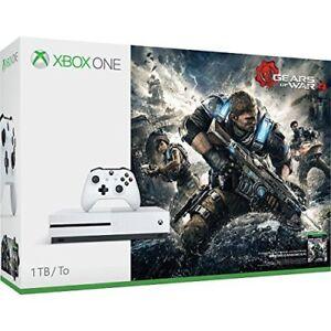 Microsoft-Xbox-One-S-Gears-Of-War-4-1TB-Console-Bundle-Very-Good-8Z