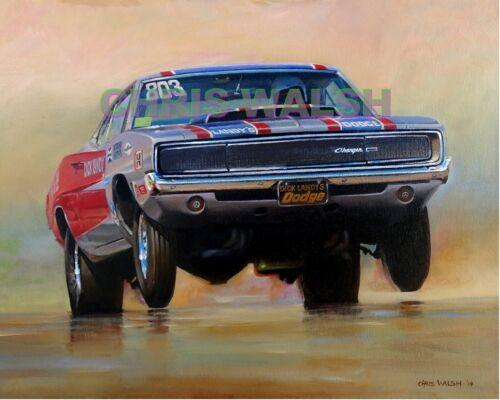 Drag Racing action prints...68 Hemi Charger Super Stock