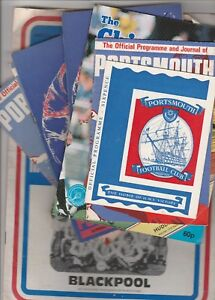 Portsmouth-Home-Programmes-1960-039-s-to-date