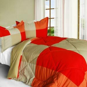 Beautiful-Prairie-Down-Alternative-Comforter-Set-twin-queen-or-king-red-orange