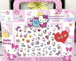 Hello-kitty-amp-Minnie-mouse-Kid-Nail-Art-140-stickers