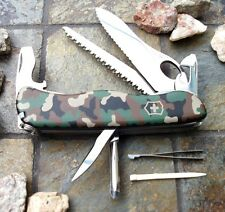Victorinox ONE HAND TREKKER CAMOUFLAGE Original Swiss Army Knife 54877 NEW!