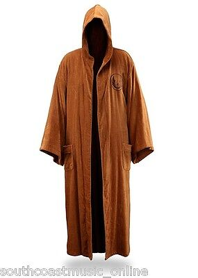 Star Wars Jedi Knight Bathrobe Coral Fleece Bath Robe with Embroidered Logo New