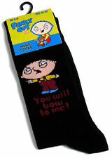 MENS FAMILY GUY STEWIE GRIFFIN YOU WILL BOW TO ME SOCKS 6-11 BNWT