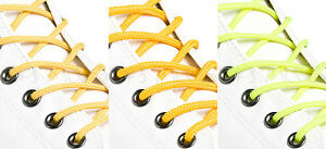 ROUND-YELLOW-SHOE-LACES-LONG-SHOELACES-3mm-wide-11-LENGTHS-3-SHADES